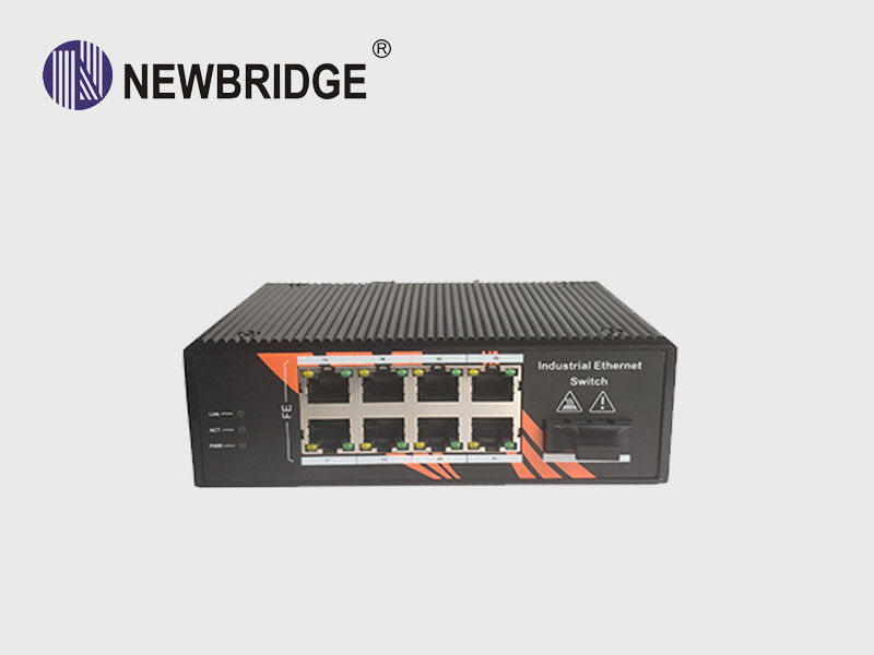 Enterprise Fiber Optic PoE Ethernet Switch Industrial 8*10/100 Mbps RJ45 Ports